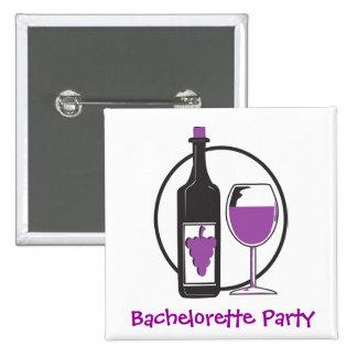 Fiesta del vino rojo de Bachelorette Pin