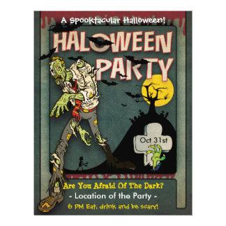 Fiesta del zombi de Spooktacular Halloween Flyer