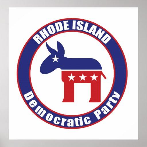 Fiesta Democratic de Rhode Island Poster