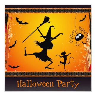 Fiesta divertido de Halloween de la bruja y del Anuncios Personalizados