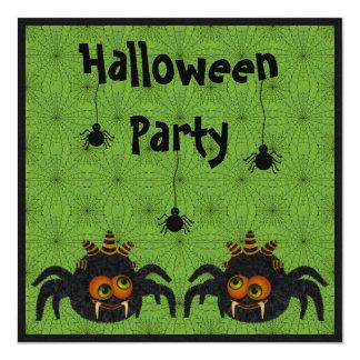 Fiesta divertido de Halloween de las arañas y de Invitacion Personalizada