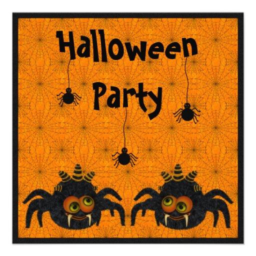 Fiesta divertido de Halloween de las arañas y de Anuncios Personalizados