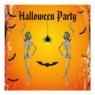 Fiesta divertido de Halloween de los esqueletos Comunicados Personales