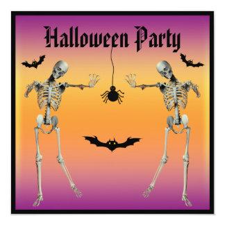 Fiesta divertido de Halloween de los esqueletos Invitacion Personalizada