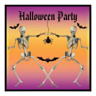 Fiesta divertido de Halloween de los esqueletos Comunicados