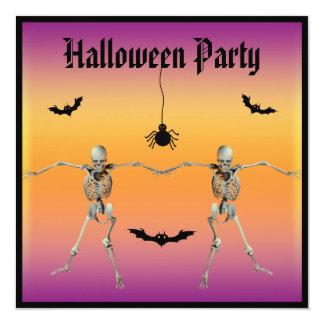 Fiesta divertido de Halloween de los esqueletos Anuncio Personalizado