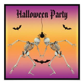 Fiesta divertido de Halloween de los esqueletos Invitación 13,3 Cm X 13,3cm