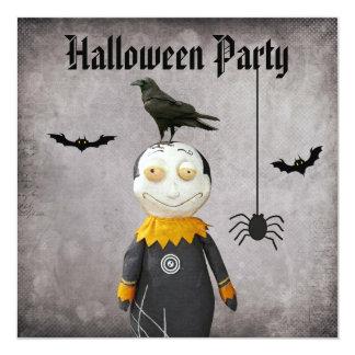 Fiesta divertido de Halloween del damasco del Invitación 13,3 Cm X 13,3cm