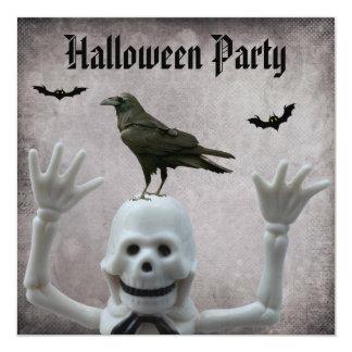 Fiesta divertido de Halloween del damasco del Invitaciones Personalizada