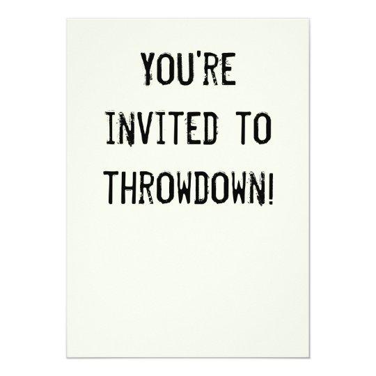Fiesta divertido Invitiation del Throwdown del Invitación 12,7 X 17,8 Cm