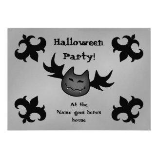 Fiesta divertido lindo 5x7 de Halloween del palo d Anuncios