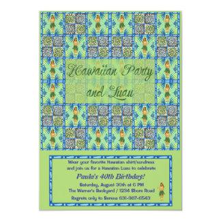 Fiesta e invitación hawaianos de Luau