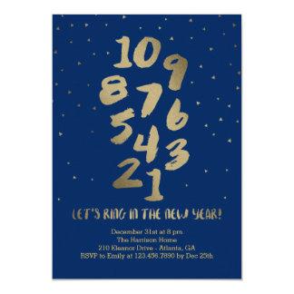 Fiesta Editable del Año Nuevo del color de la Invitación 12,7 X 17,8 Cm