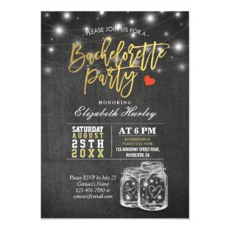 Fiesta elegante de Bachelorette de las luces de la Invitación 12,7 X 17,8 Cm