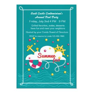 Fiesta en la piscina de la diversión del verano comunicado