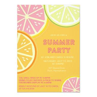 Fiesta en la piscina de la limonada del verano invitación 12,7 x 17,8 cm