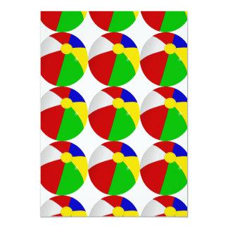 Fiesta en la piscina de las pelotas de playa invitación 12,7 x 17,8 cm