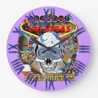 Fiesta en la piscina de Vegas todos los Reloj Redondo Grande