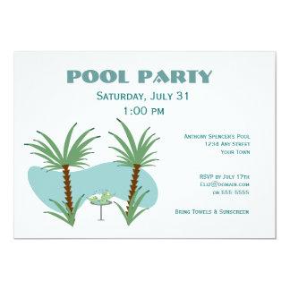 Fiesta en la piscina del Birdbath Invitación 12,7 X 17,8 Cm