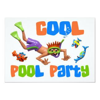 Fiesta en la piscina fresca invitación 12,7 x 17,8 cm