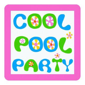 Fiesta en la piscina fresca invitación 13,3 cm x 13,3cm