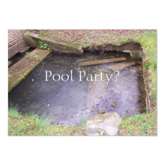 ¿Fiesta en la piscina? Invitación