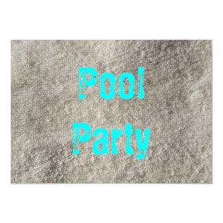 Fiesta en la piscina invitación 12,7 x 17,8 cm