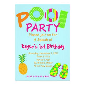 Fiesta en la piscina comunicado personalizado