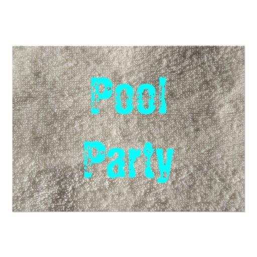 Fiesta en la piscina anuncio personalizado