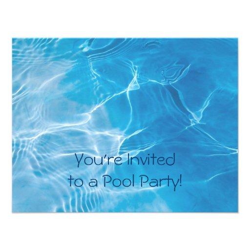 Fiesta en la piscina anuncios personalizados
