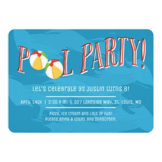 ¡Fiesta en la piscina! Invitación
