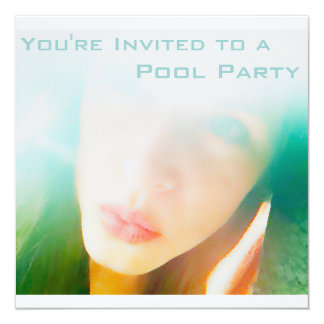 Fiesta en la piscina invitación 13,3 cm x 13,3cm