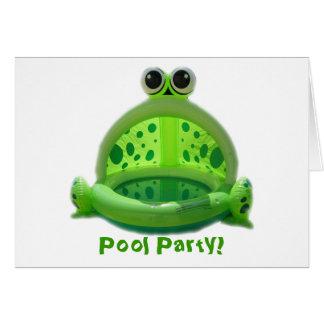 ¡Fiesta en la piscina! Invitación Tarjeta Pequeña