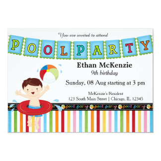 Fiesta en la piscina (muchacho) comunicados