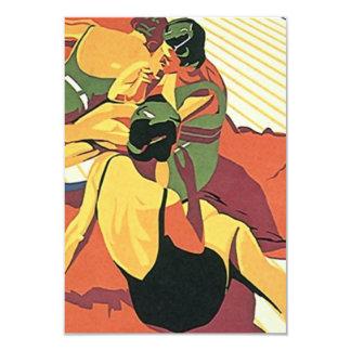 Fiesta en la piscina retra del ~ de la playa del ~ invitación 8,9 x 12,7 cm