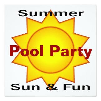 Fiesta en la piscina Sun del verano y diversión Invitación