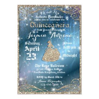 Fiesta encantado de Quinceanera del jardín Invitación 12,7 X 17,8 Cm