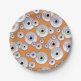 Fiesta épico del ojo Googly Plato De Papel