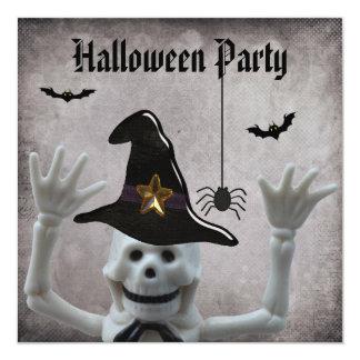 Fiesta esquelético divertido de Halloween del Invitación Personalizada