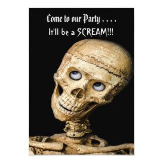 Fiesta esquelético divertido de Halloween Invitación 12,7 X 17,8 Cm