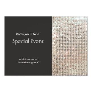 Fiesta festivo de la diversión de las lentejuelas invitación 12,7 x 17,8 cm