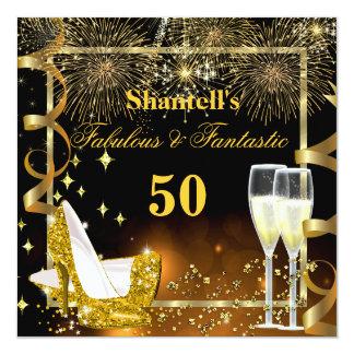 Fiesta festivo fantástico fabuloso de 50 talones invitación 13,3 cm x 13,3cm