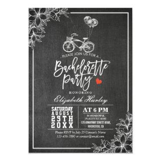 Fiesta floral de Bachelorette de la pizarra negra Invitación 12,7 X 17,8 Cm
