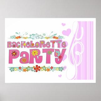 fiesta floral del bachelorette del hippie de las póster