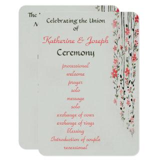 Fiesta floral oriental del programa del boda de la