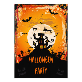 Fiesta frecuentado de Halloween del castillo