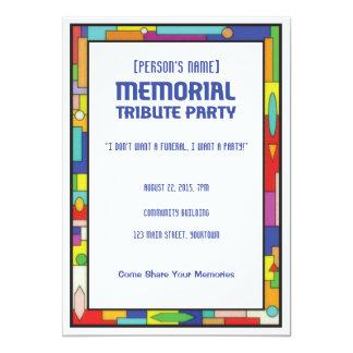 Fiesta fúnebre del tributo conmemorativo invitación 12,7 x 17,8 cm
