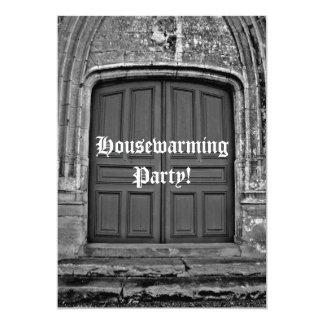Fiesta gótico del estreno de una casa invitación 12,7 x 17,8 cm