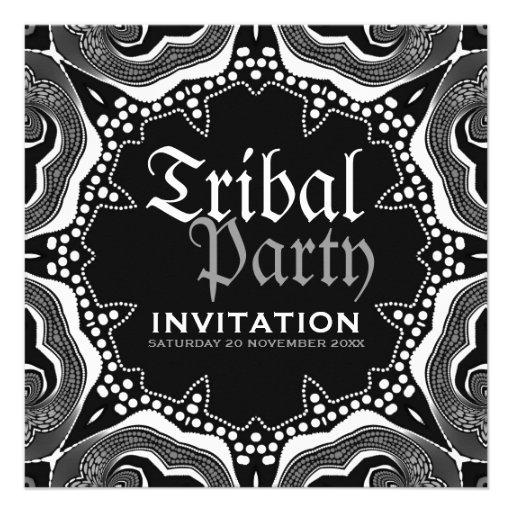 Fiesta gótico medieval tribal blanco negro comunicado personalizado