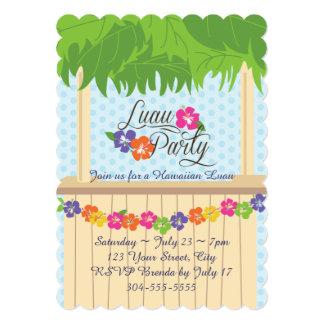 Fiesta hawaiano de Luau Invitación 12,7 X 17,8 Cm